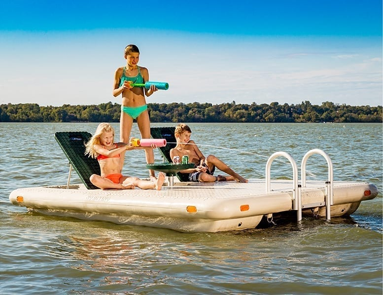 Otter Island Swim Raft - Wave Armor - Floating Docks