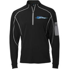 Wave Armor Quarter Zip Black
