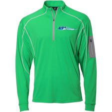 Wave Armor Quarter Zip Green