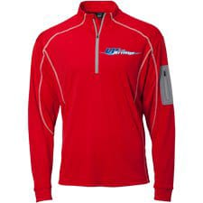 Wave Armor Quarter Zip Red